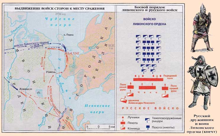 Ледовое побоище 1242 карта