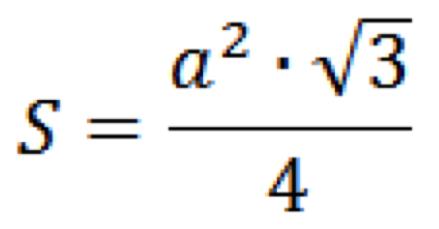 формула площади правильного треугольника
