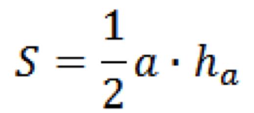 площадь треугольника по основанию