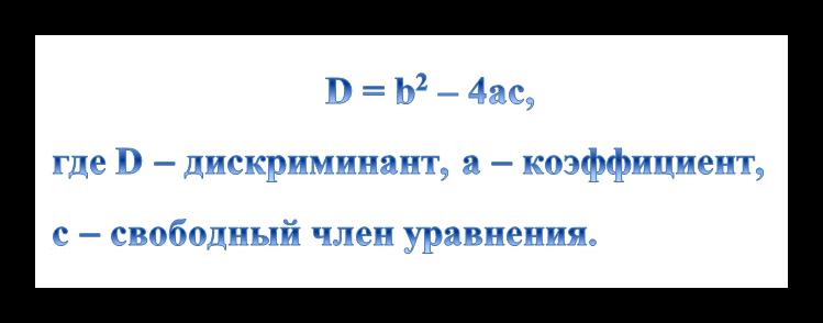 Формула дискриминанта
