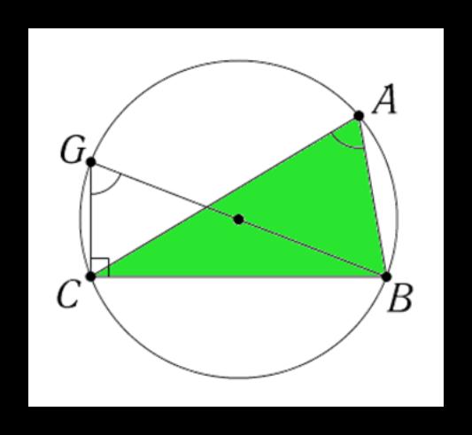 Рисунок доказательства теоремы синусов