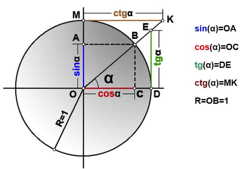 тригонометрическая окружность